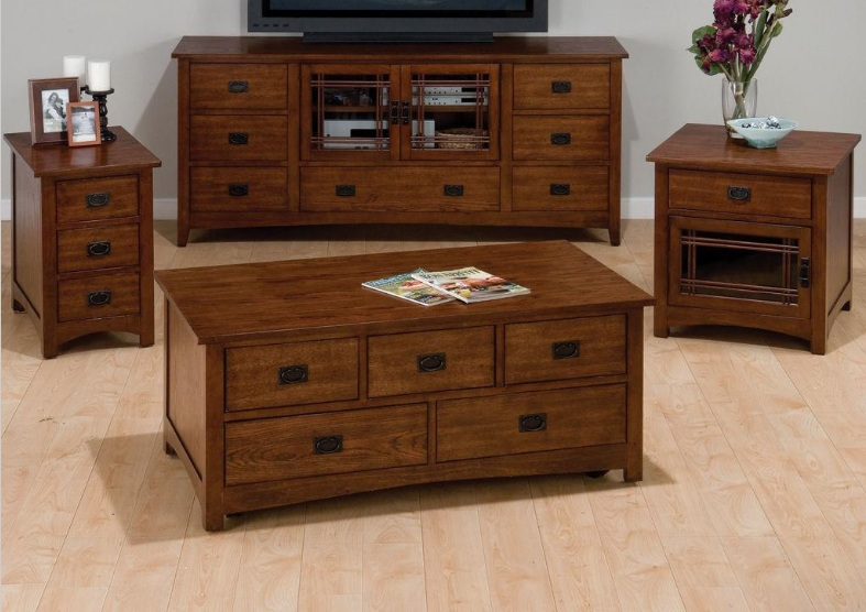 England Furniture J037 Mission Hill Oak Tables | England Furniture