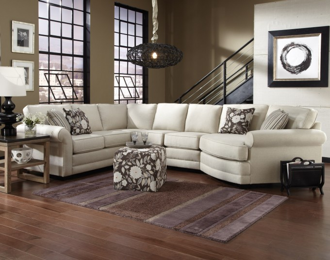 England Furniture Leather Sectional