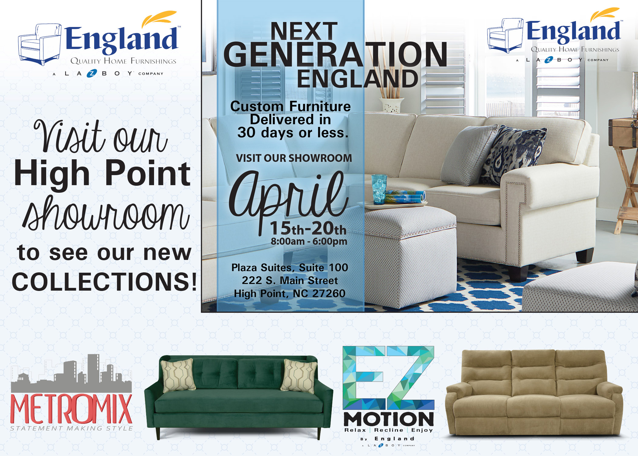England Furniture Spring High Point Market