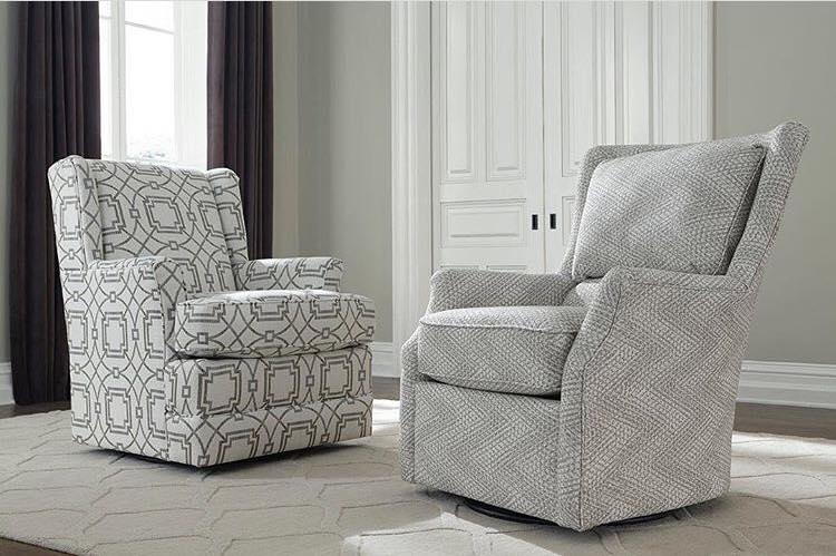 England Furniture's Loren chair and Valerie chair